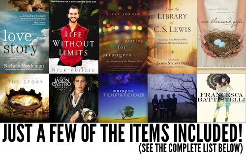 Time for a Huge Giveaway! Enter for Your Chance to Win Eight Books, Six CDs, and More!